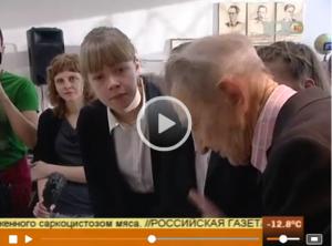 """Репортаж на канале """"100 - тв"""" о работе над созданием музея"""